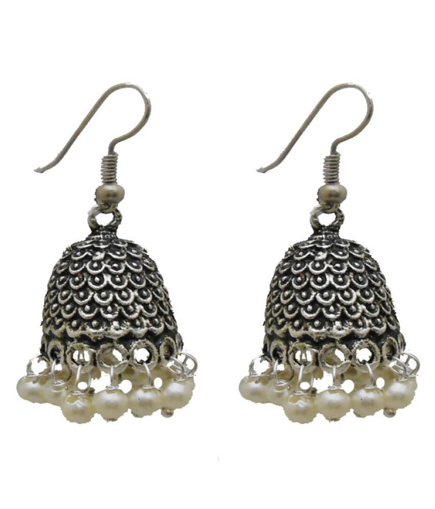 My Design Silver Plated Jhumki Earring