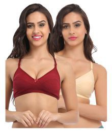 Miss Clyra Multi Color Cotton Plunge Bra