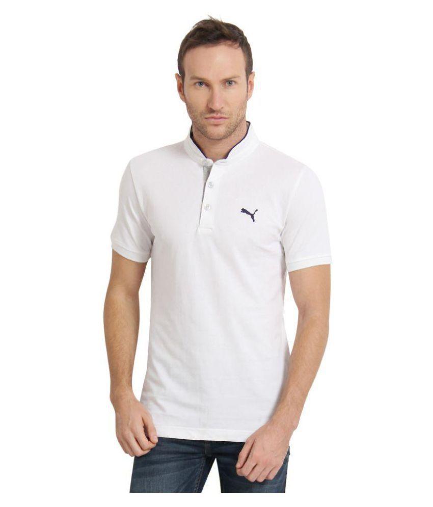Puma White Slim Fit Polo T Shirt