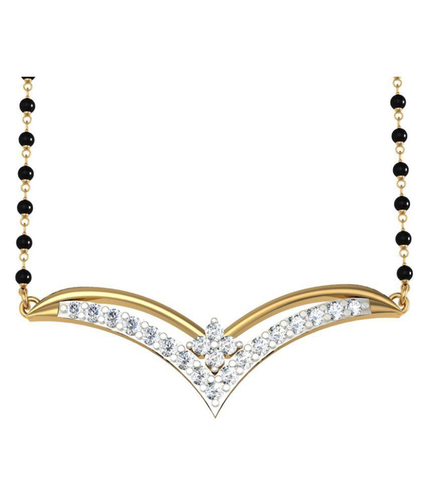 Jewelmantra 18k Gold Diamond Mangalsutra