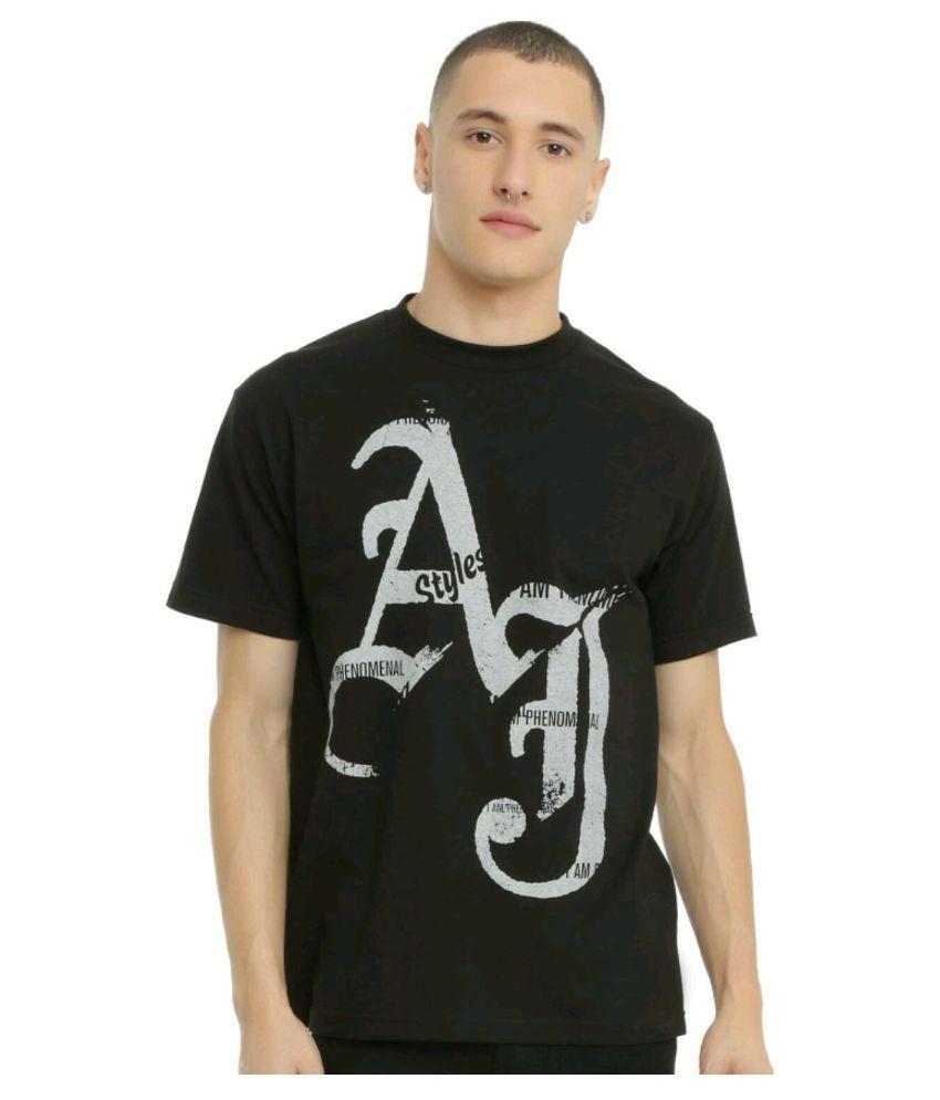 Wwe Black Round T-Shirt