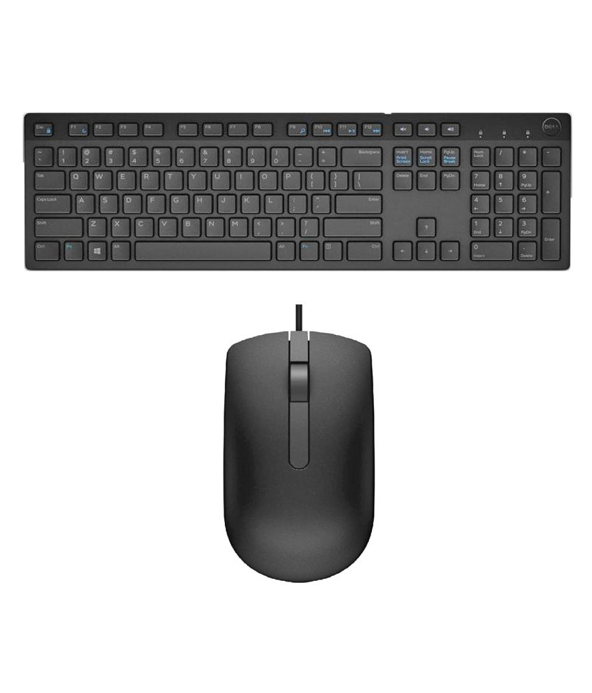 Dell KB 216 Black USB Wired Keyboard Mouse Combo Keyboard