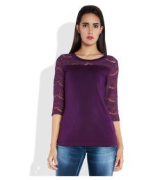 Park Avenue Woman Purple Viscose Regular Tops