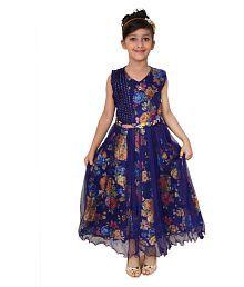 Arshia Fashions Net Comfortable Blue Dresses