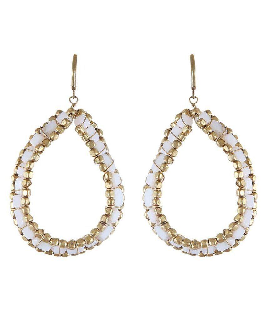 Arittra White Earrings