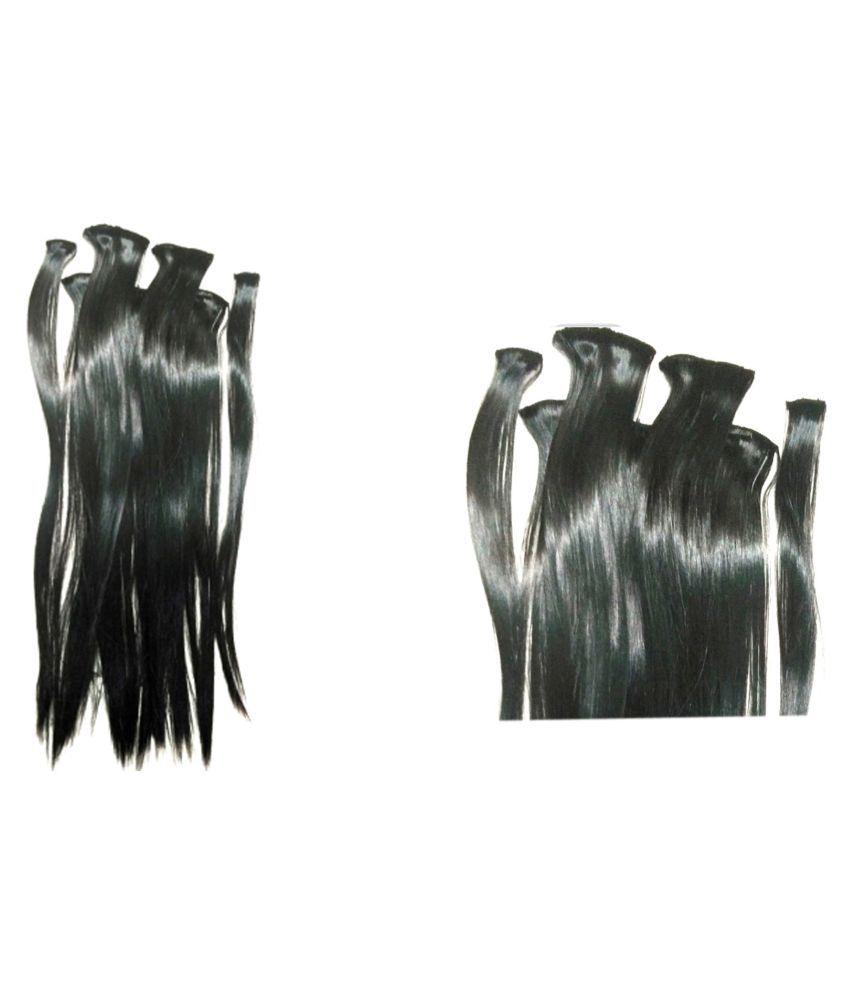 Ritzkart Black Casual Hair Extension Hair Accessories 6 Pcs
