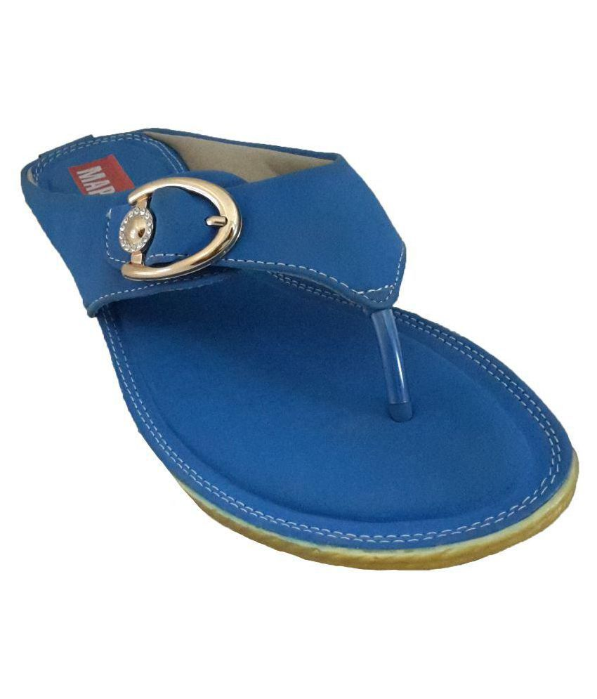 Mapp Blue Slippers