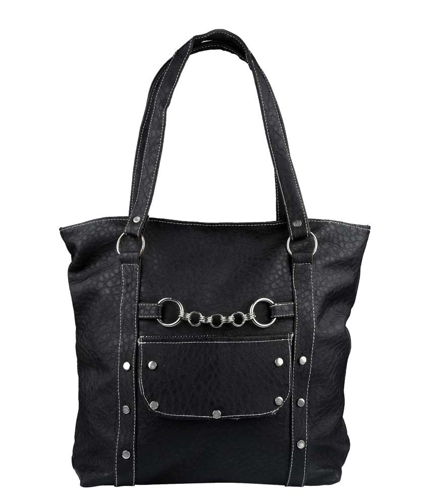 Kitty Black Artificial Leather Shoulder Bag