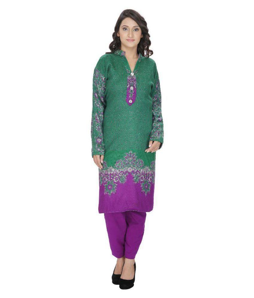Designer Semi Stitched Winter Woolen Suit For Women Dress