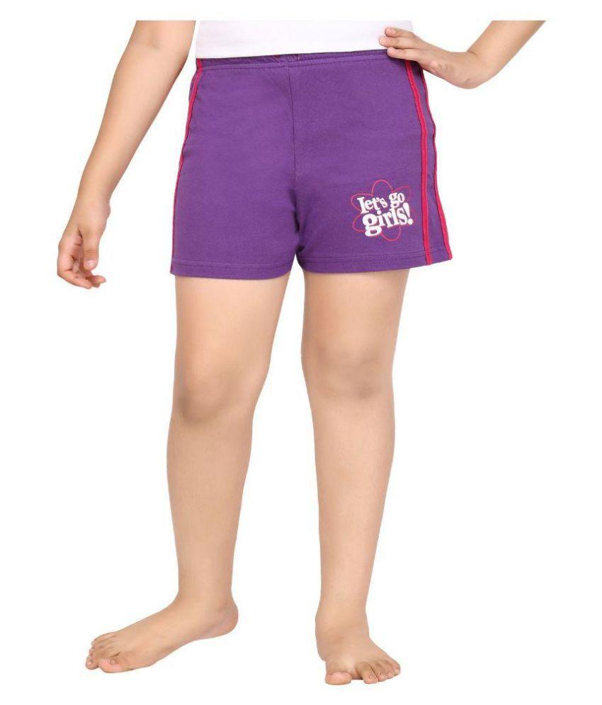 Punkster Purple Cotton Hot Pant
