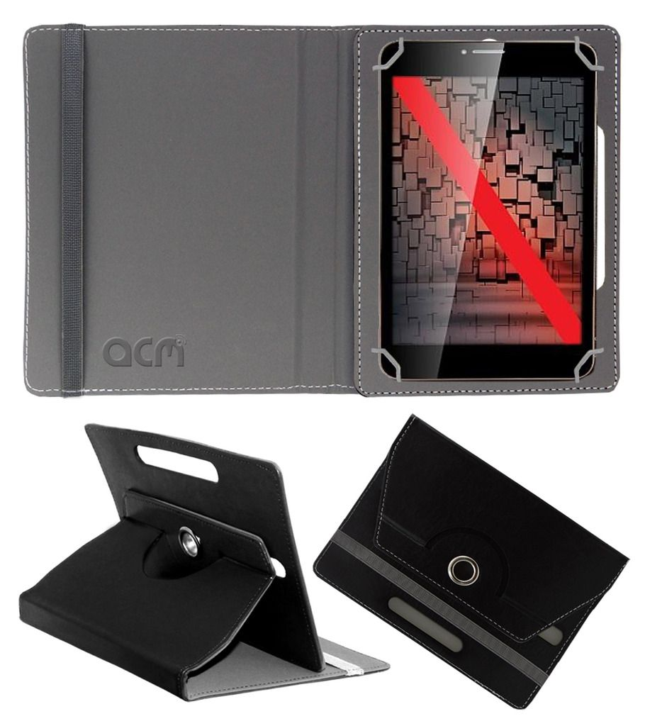 iBall Slide 6095 Q700 Flip Cover By ACM Black available at SnapDeal for Rs.369