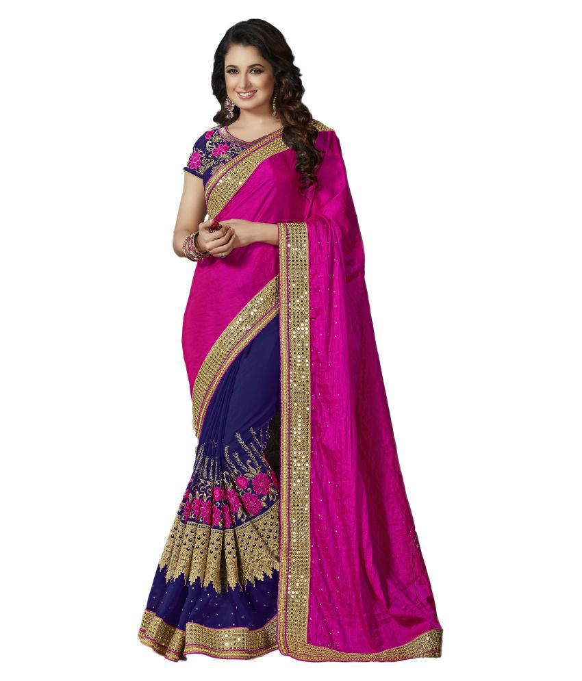M.S.Retail Multicoloured Silk Saree