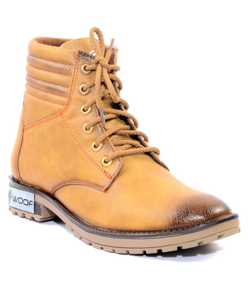 Woof Tan Casual Boot