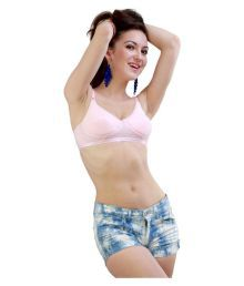 Delcy Duck Pink Rayon T-Shirt/ Seamless Bra - 636656080320