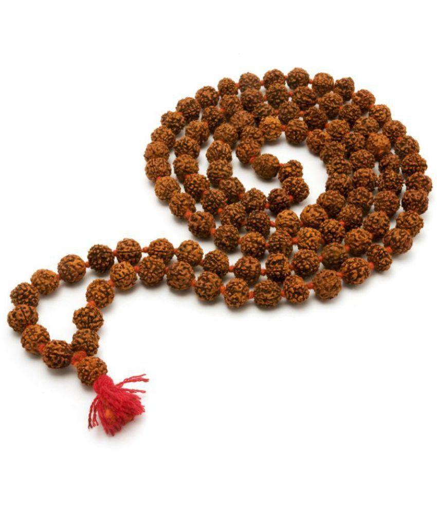 Indigo Creatives Brown Powerful Small Rudraksha Mala (108 Beads) - Pack of 1