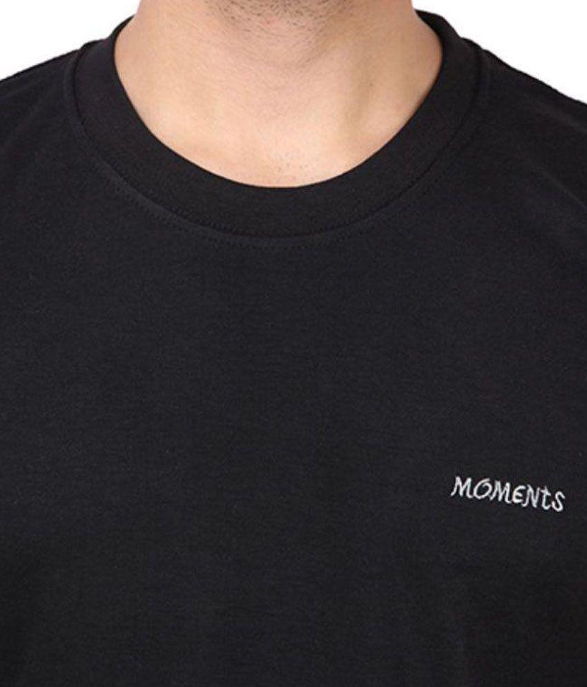 60d518e126 Moments T-FIT Black Round T-Shirt - Buy Moments T-FIT Black Round ...