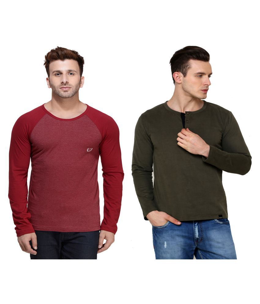 Rigo Multi Round T-Shirt Pack of 2