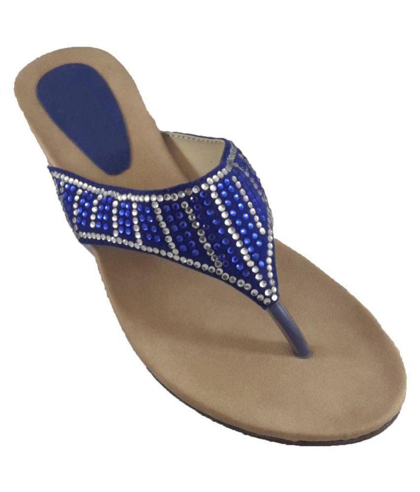 mapp Blue Wedges Heels