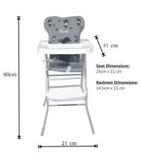 Ehomekart Blue Foldable High Chair with Tray