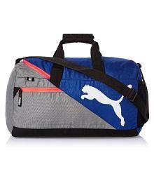 Puma Blue and Grey Travel DuffleBag