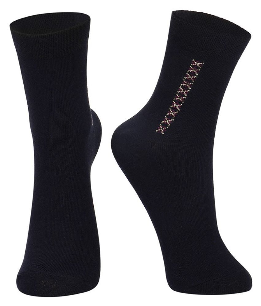 Dukk Black Casual Full Length Socks