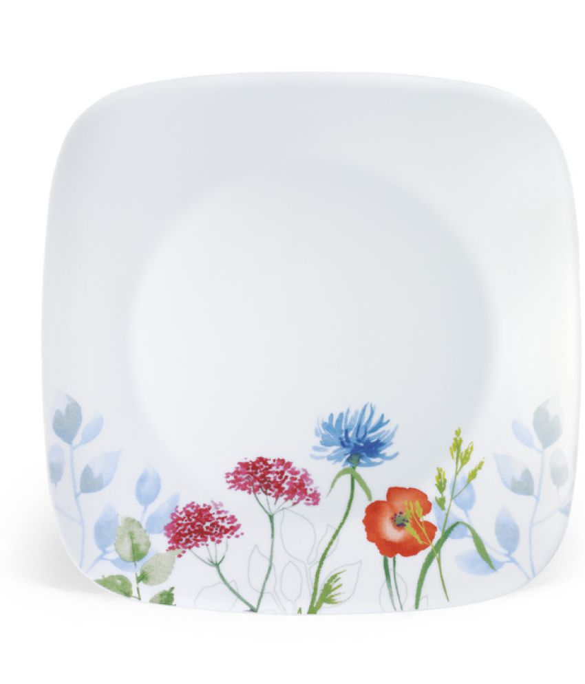 glass dinner plates online india. corelle multicolor glass dinner set plates online india