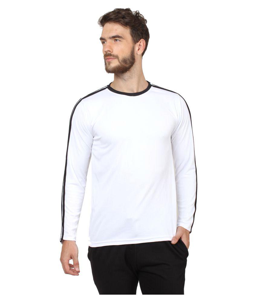 Hustle White Round T-Shirt
