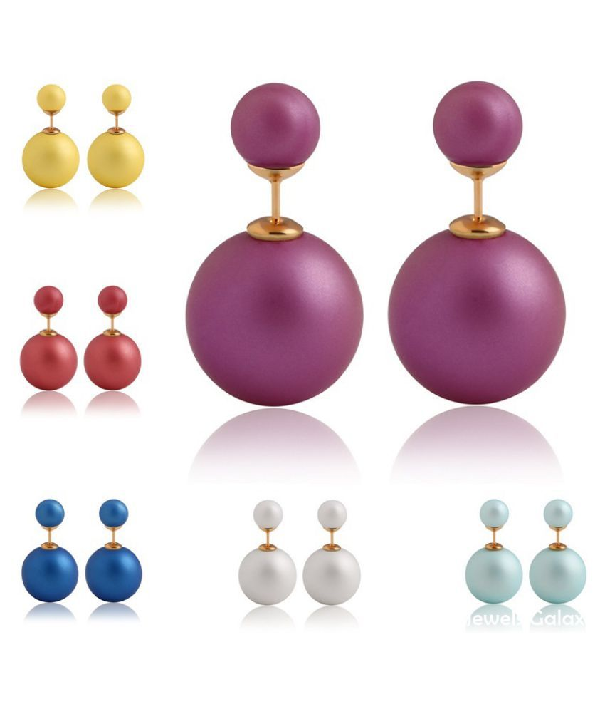 Jewels Galaxy Multicolor Earrings Combo - Pack of 6