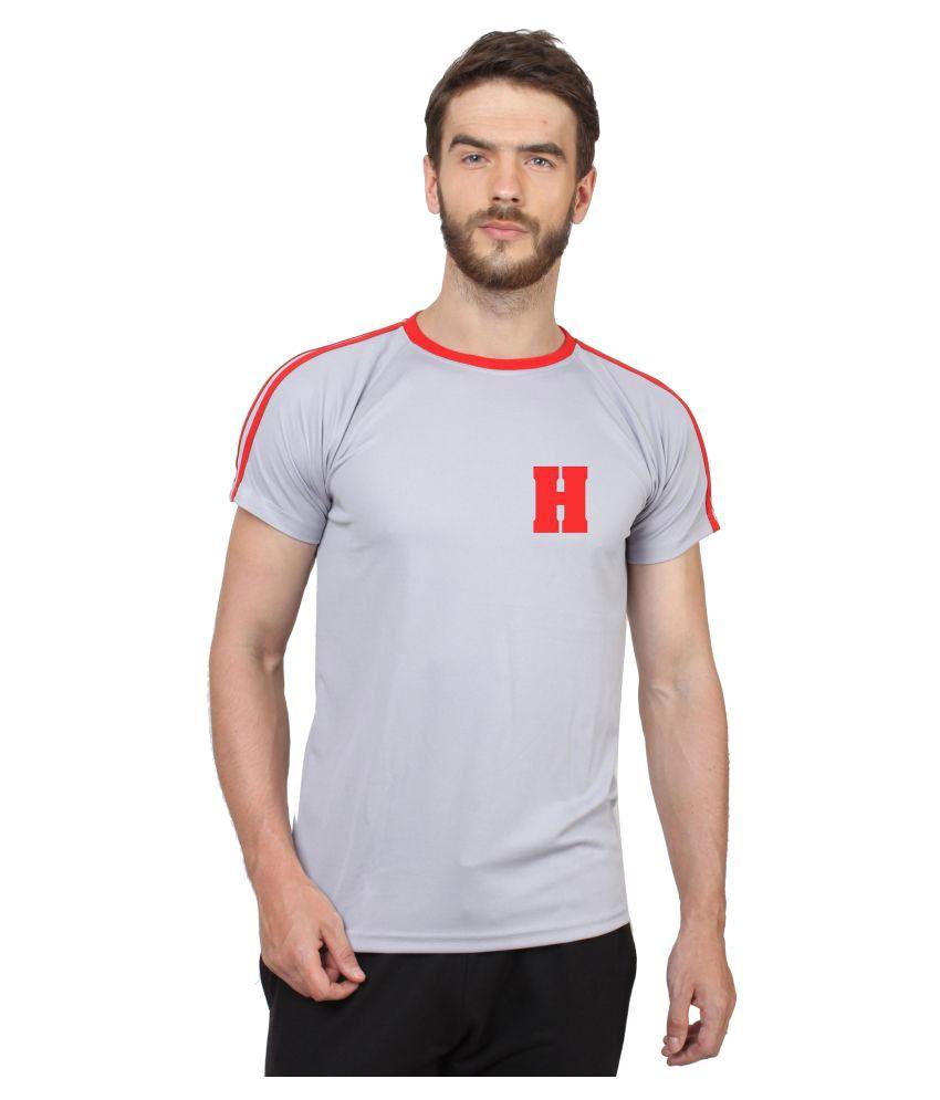 Hustle Grey Round T-Shirt