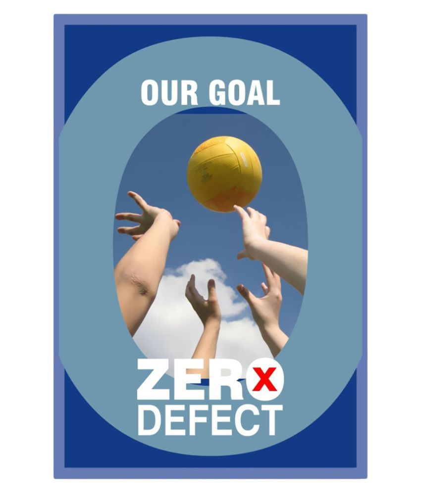 Signageshop our goal zero defect poster buy online at for Best place to buy posters in store