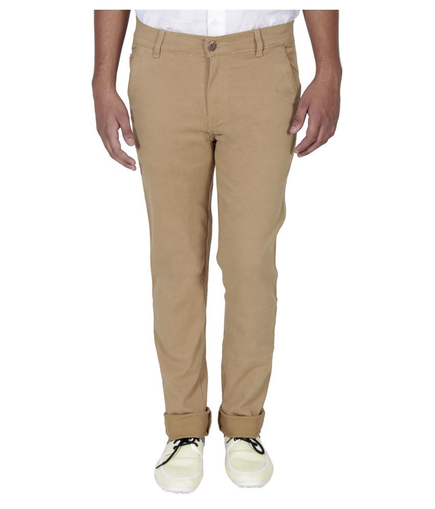 Absolute Khaki Regular Flat Trouser