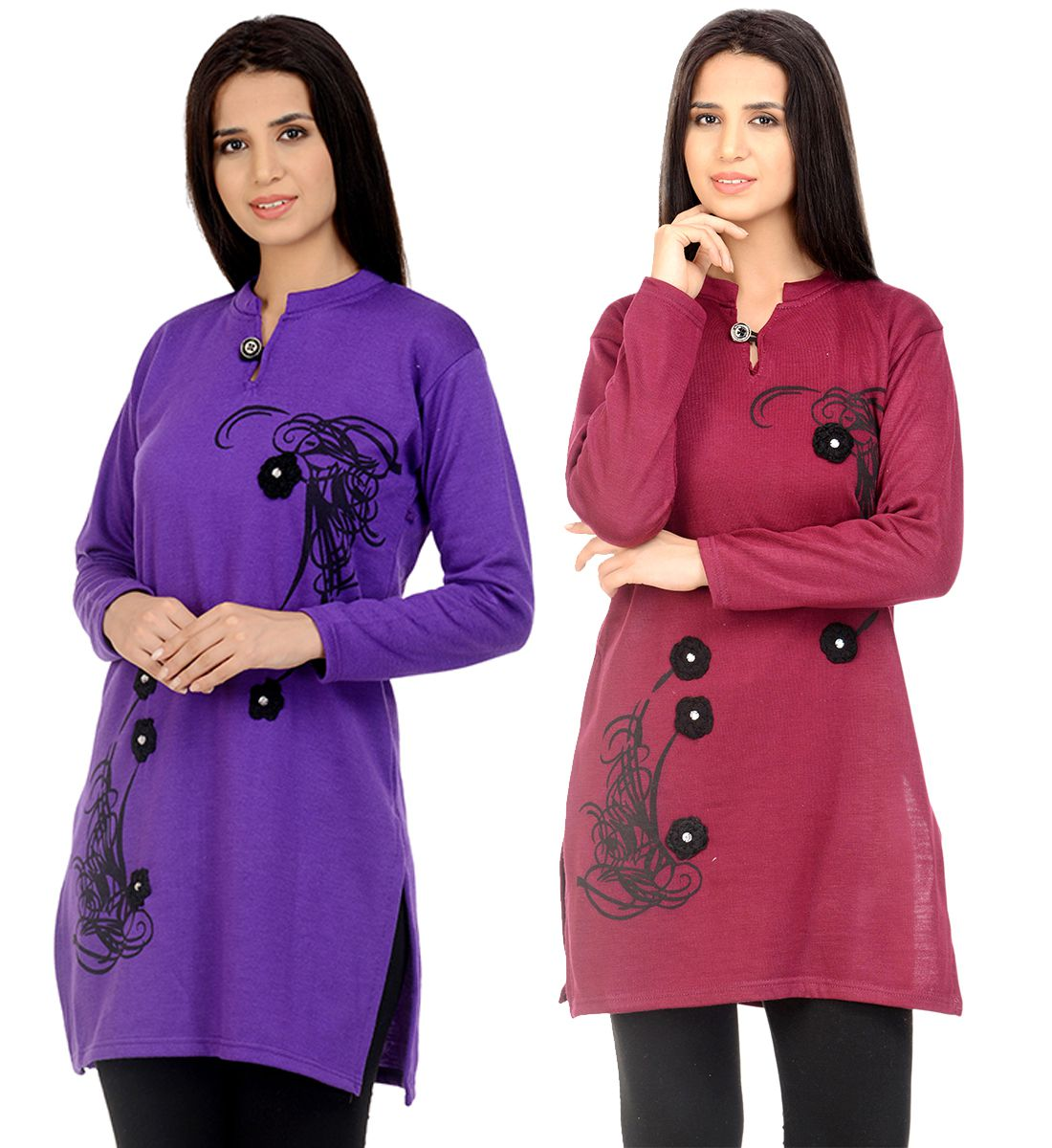 Darwin Multicoloured Woollen Straight Kurti