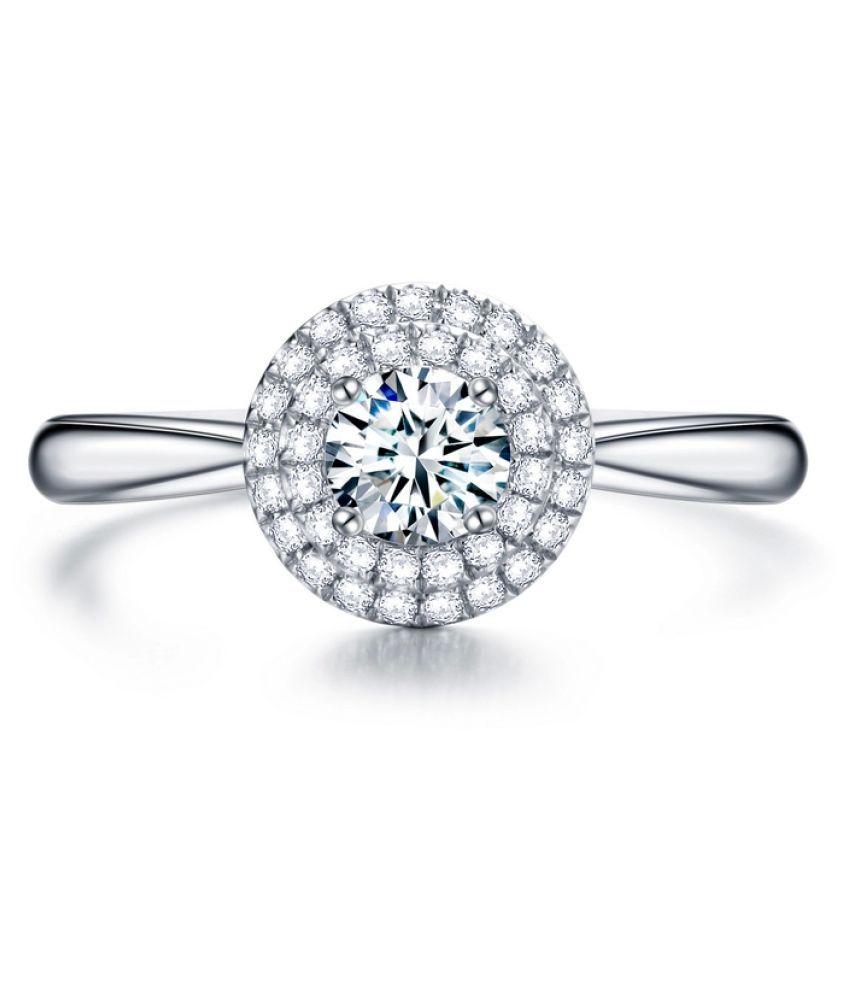 Amogh Jewels 14k White Gold Ring