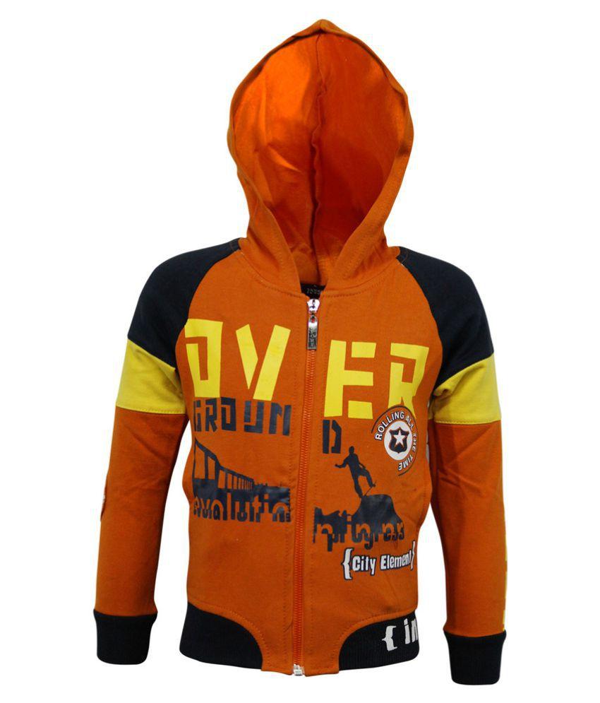Kothari Orange Cotton Sweatshirt