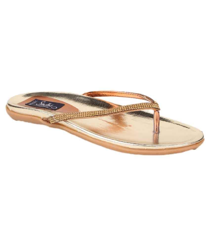 Sindhi Footwear Brown Platforms Flats