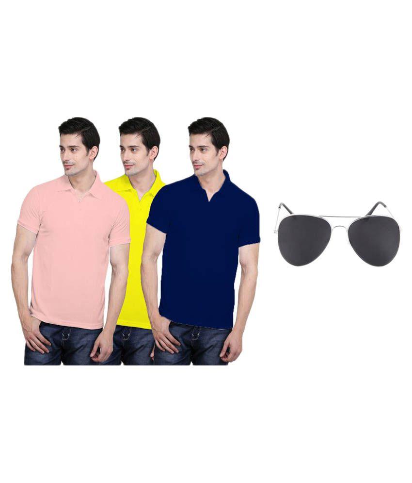 X-Cross Multi V-Neck T-Shirt Pack of 3