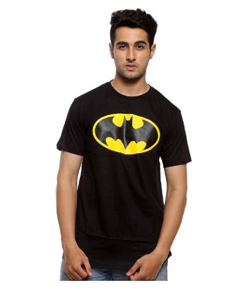 Stylentra Black Batman T Shirt For Men