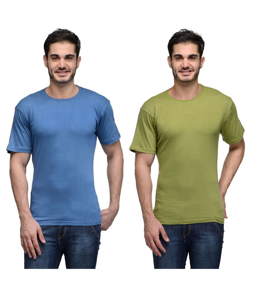 Urban Glory Multi Round T-Shirt Pack of 2