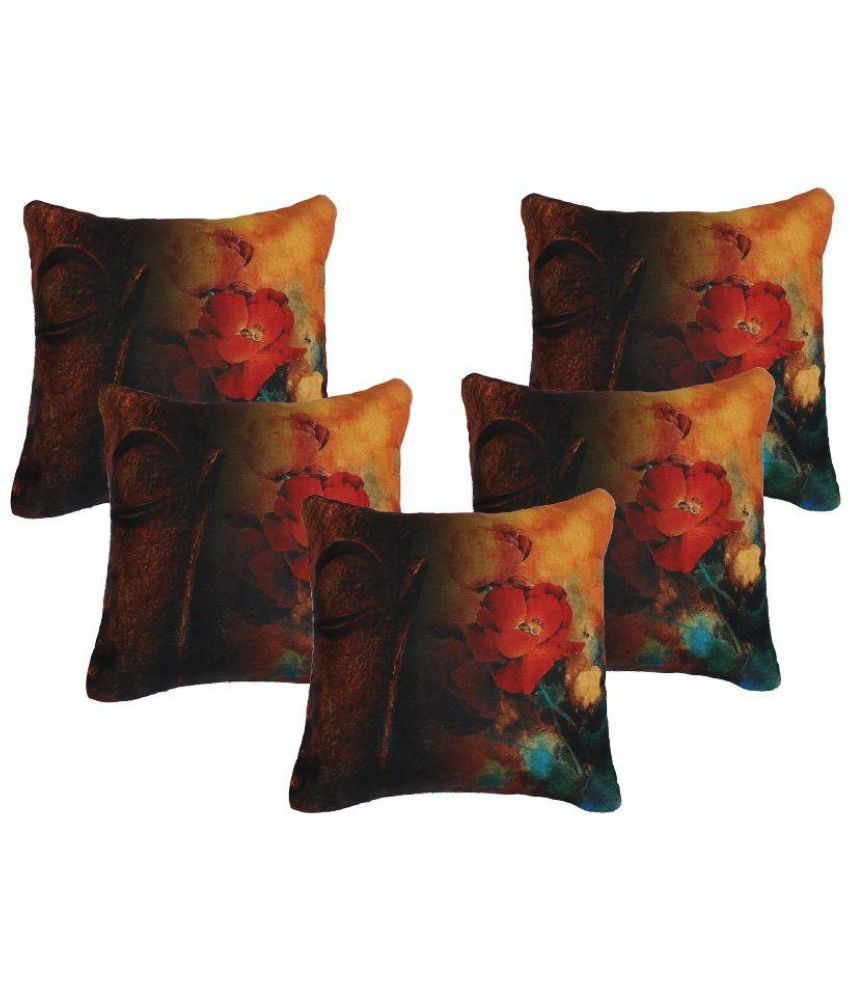 Glamkart Set of 5 Cotton Cushion Covers
