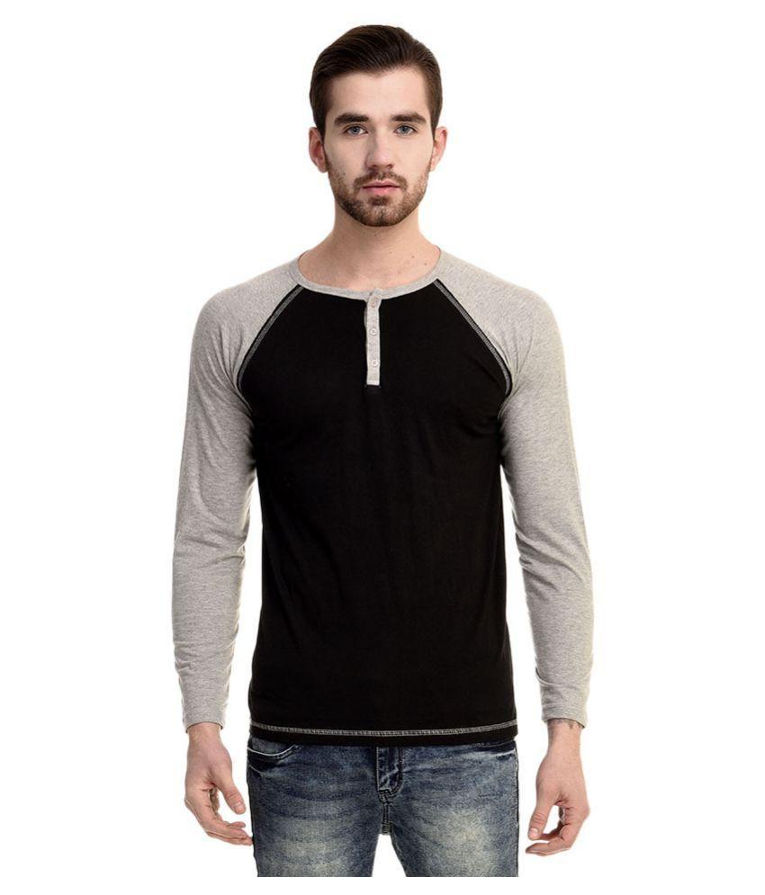 Mimoda Black Henley T-Shirt