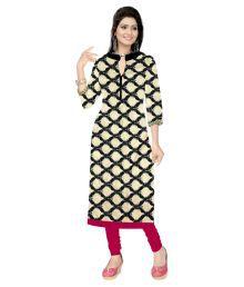 Shree Hans Fashion Multicoloured Crepe Printed Semi Stitched Kurti - 635048672355