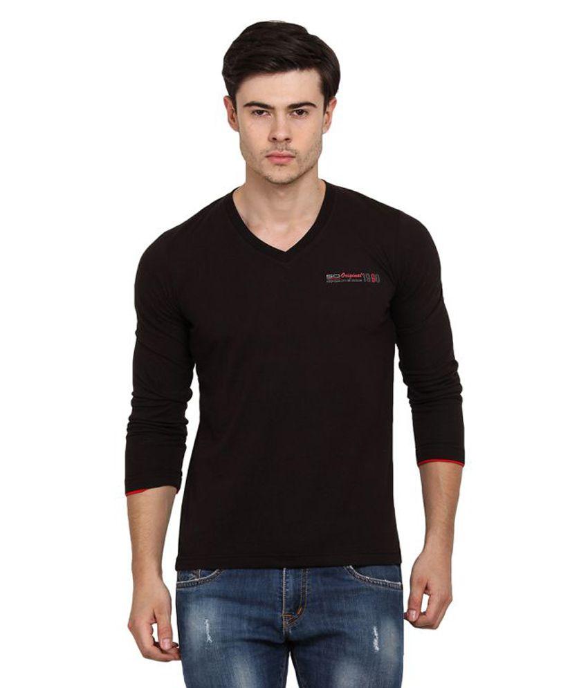 Duke Black V-Neck T-Shirt