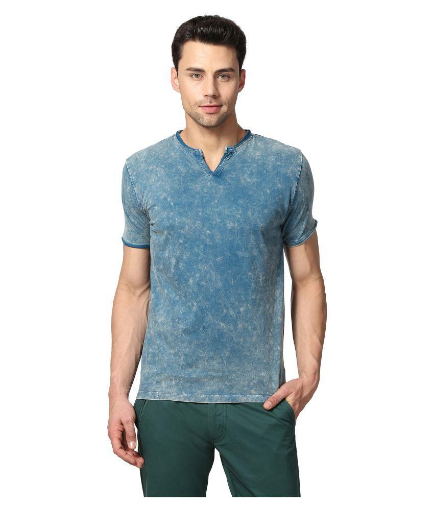Goat Blue Henley T-Shirt