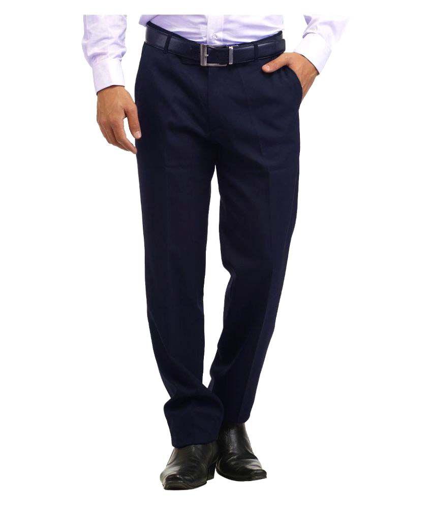 Inspire Clothing Inspiration Blue Slim Flat Trouser