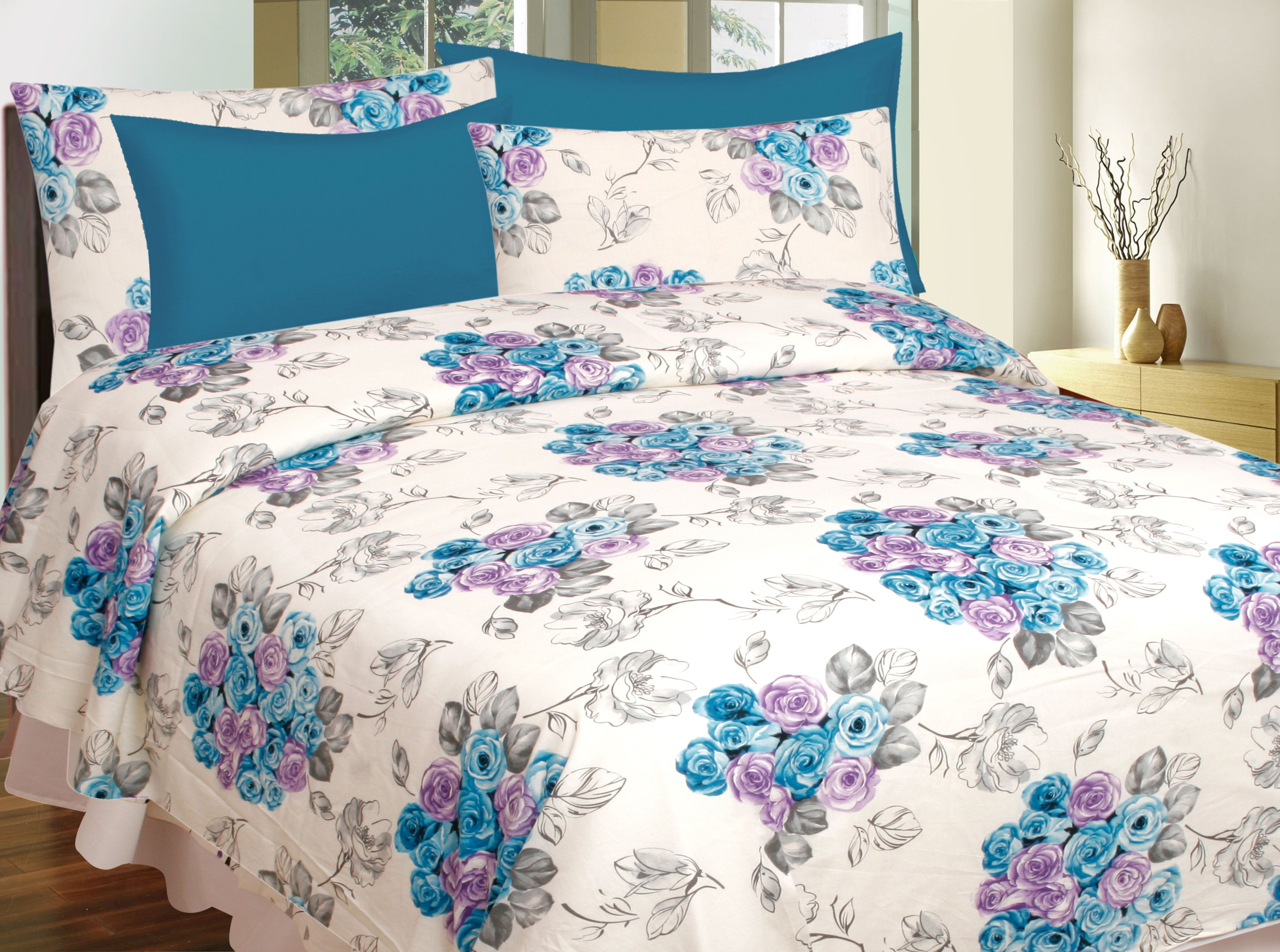 Divine Casa Pack 2 Cotton Double Bedsheets bo Buy