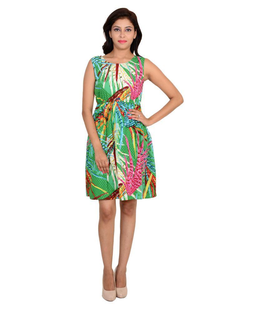 Vs Fashion Poly Crepe Multi Color Dresses