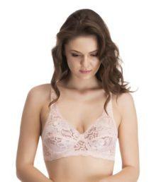 Melisa Pink Lace T-Shirt/ Seamless Bra