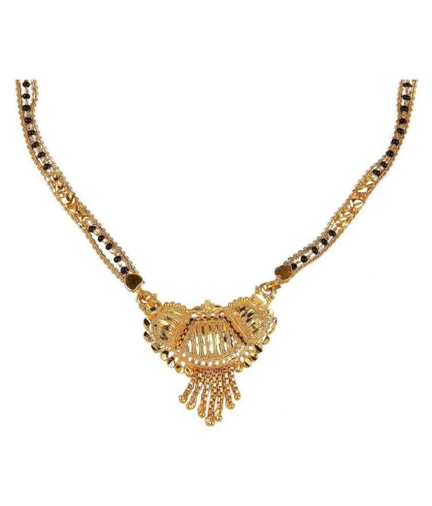 9blings Golden Alloy Mangalsutra Chain