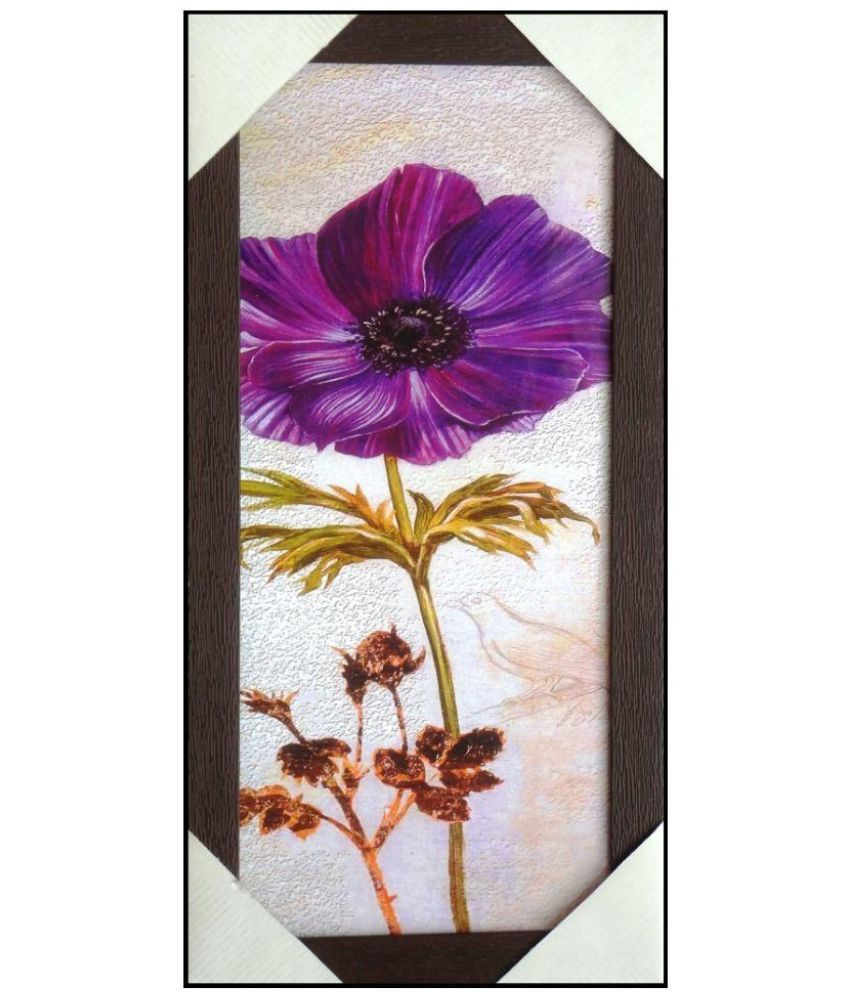 AMAZING COLLECTIONS Floral Art Painting With Frame Single Piece