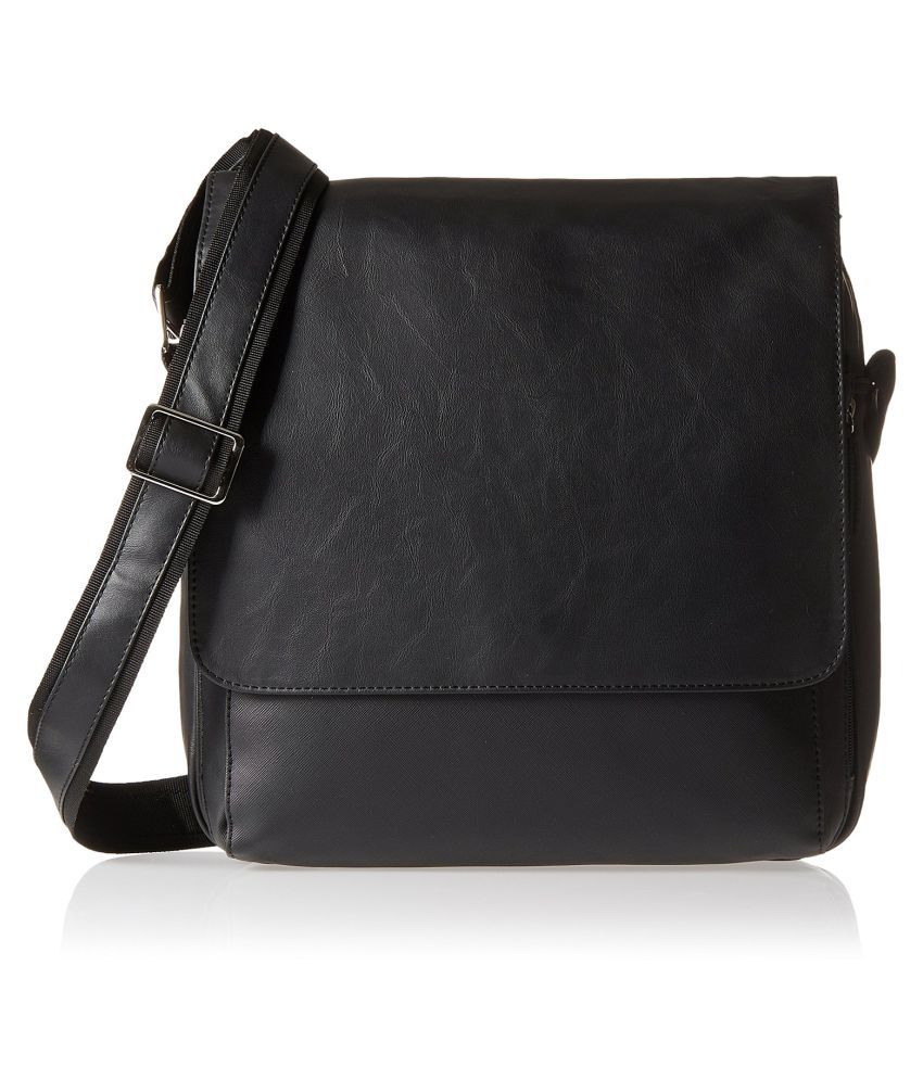 Baggit Black Rexin Sling Bag